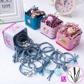 兒童橡皮筋髮繩頭飾頭繩小清新簡約女童蝴蝶結髮圈頭花髮飾品  薔薇時尚