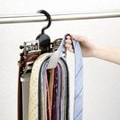 日本LEC領帶架皮帶腰帶絲巾圍巾身柜收納掛架塑料多層掛鉤整理架