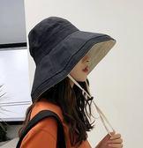漁夫帽女夏韓防紫外線遮臉帽子太陽帽遮陽帽