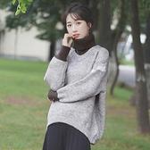 針織毛衣新款慵懶風秋冬高領毛衣女假兩件針織衫打底加厚套頭潮 【2021新年鉅惠】