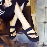 欣澤希拖鞋女夏時尚 外穿人字拖女夏厚底防滑高坡跟鬆糕沙灘拖鞋 【PINK Q】