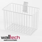法國品牌 walltech 深型籃 中尺寸(M) W25CM 白色烤漆款