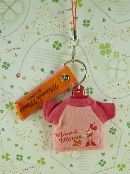 【震撼精品百貨】Micky Mouse_米奇/米妮 ~擦拭吊飾-粉衣服