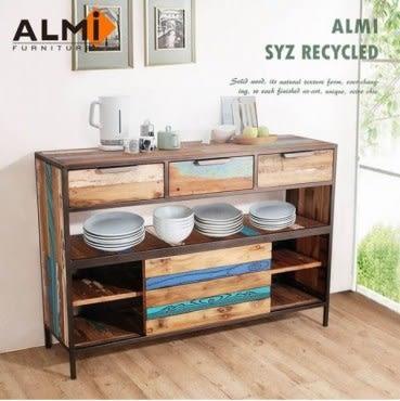 ALMI SYZ RECYCLED-SLIDING DOOR 三抽滑門餐櫥櫃