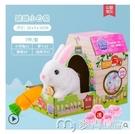 電動玩具可愛小兔子毛絨玩具電動會走6歲3諾拉寵寶女孩生日禮物仿真小白兔 麥吉良品