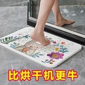 矽藻泥吸水墊浴室防滑墊地墊廁所衛生間地門口速乾矽藻土吸水腳墊 港仔會社