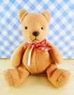 【震撼精品百貨】日本精品百貨~絨毛玩偶-熊絨毛-紅咖啡紅