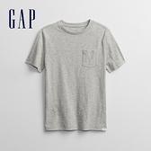 Gap男童 休閒貼袋圓領短袖T恤 814758-灰色