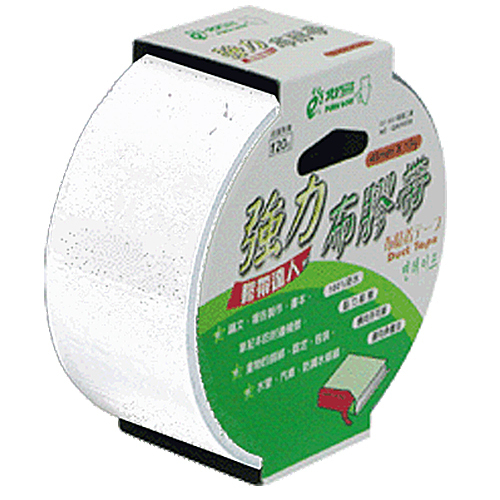 【奇奇文具】北極熊 CLT4815W白色布紋膠帶 48mmX15Y (6卷)