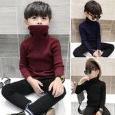 男童上衣男童毛衣套頭高領秋冬款加絨加厚童裝中大童兒童針織衫寶寶打底衫童趣屋促銷好物