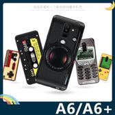 三星 Galaxy A6/A6+ 復古偽裝保護套 軟殼 懷舊彩繪 計算機 鍵盤 錄音帶 矽膠套 手機套 手機殼