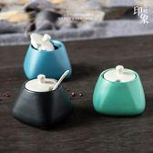 創意日式調味罐陶瓷調料盒瓶廚房用品家用儲物瓶油鹽罐 北歐【新店開張8折促銷】