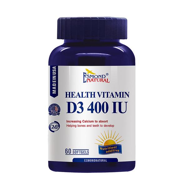 【陽光人生】愛司盟健康維生素D3 400IU軟膠囊 60顆/瓶