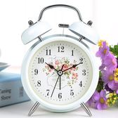 學生床頭創意兒童小鬧鐘可愛卡通靜音簡約臥室迷你超大聲台鐘鬧錶 俏腳丫