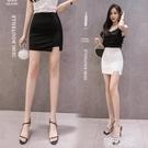 窄裙 彈力開叉一步裙半身裙性感包臀裙白色短裙女夏季新款修身高腰 韓菲兒