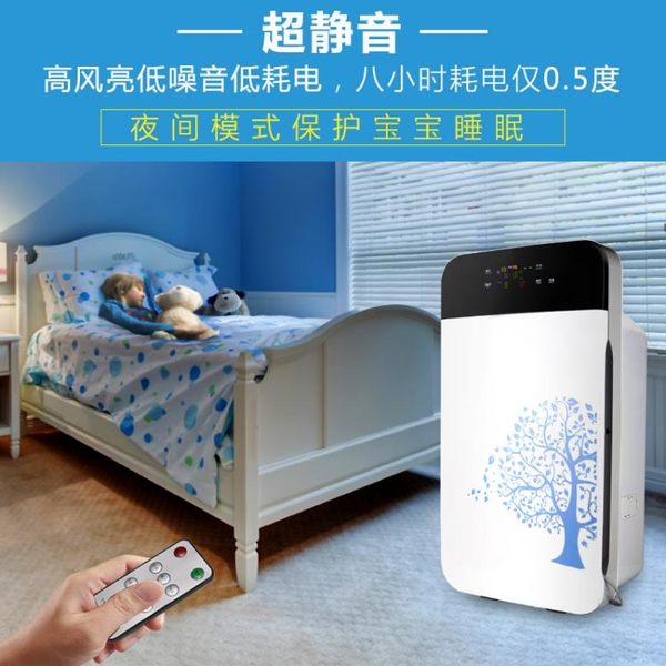 空氣凈化器 家用臥室 除霧霾 PM2.5 甲醛 負離子殺菌 igo