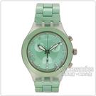 Swatch 三眼計時腕錶(果綠)