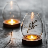 云窩玻璃燭臺擺件蠟燭浪漫家用禪意復古香薰防風臺罩日式桌面裝飾0 幸福第一站