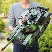 超大號遙控坦克親子對戰可發射充電動兒童越野玩具履帶式男孩汽車T 雙11狂歡購物節