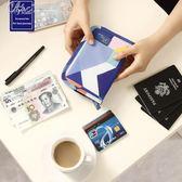 護照包多功能證件包護照夾票據收納包防水卡包錢包旅行機票保護套「七色堇」