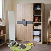 衣櫃 衣櫥 收納【收納屋】瓦鐵爾二門六格衣櫥& DIY組合傢俱