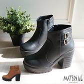 短靴 側雙扣厚底短靴 MA女鞋 T7759