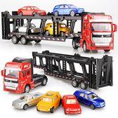 男孩合金工程車玩具回力小汽車貨柜車寶寶仿真運輸車模型玩具套裝全館88折 明天結束