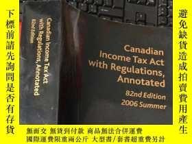 二手書博民逛書店Canadian罕見Income Tax Act with Re
