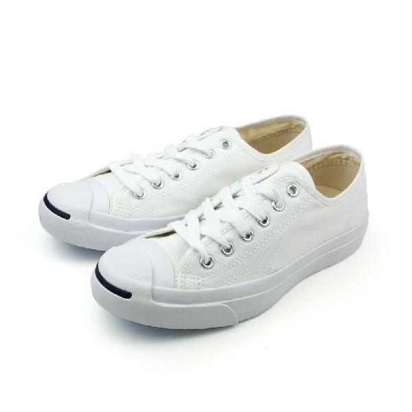 CONVERSE Jack Purcell 帆布鞋 基本款 開口笑 低筒 白