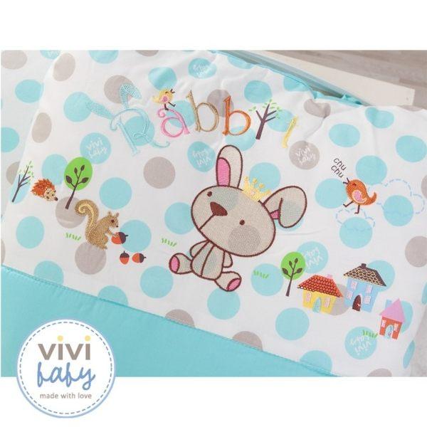 ViVibaby 王子兔五件組寢具-公主兔粉