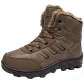 防水雪靴 雪靴男女戶外棉靴高筒防水防滑登山防寒加絨加厚男士棉鞋