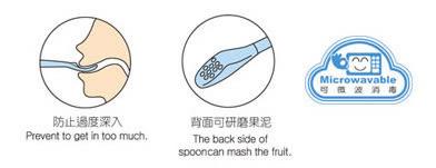【奇買親子購物網】酷咕鴨KU.KU.-果泥湯匙(藍色/粉色)