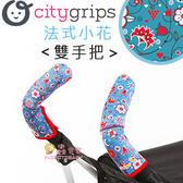 ✿蟲寶寶✿【美國Choopie】CityGrips 推車手把保護套 / 雙手把 - 法式小花