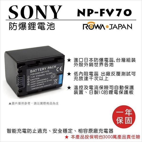 御彩數位@樂華 FOR Sony NP-FV70 相機電池 鋰電池 防爆 原廠充電器可充 保固一年