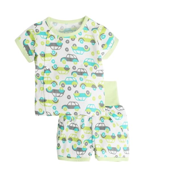 Augelute Baby童衣 短袖居家護肚前開釦套裝 夏天冷氣房男女寶寶居家套裝 20004
