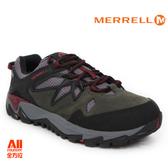 【Merrell】女款戶外健行鞋 ALL OUT BLAZE 2 GTX 郊山健行系列 - 墨綠紅(41060)【全方位運動戶外館】