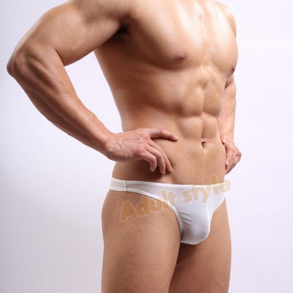 男性內褲 性感壞男孩囊袋白色丁字褲(XL)【滿千87折】包裝隱密