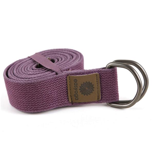 easyoga 瑜珈繩 Carry go 原色兩用伸展帶 180cm - 紫色 YFE-302 P1