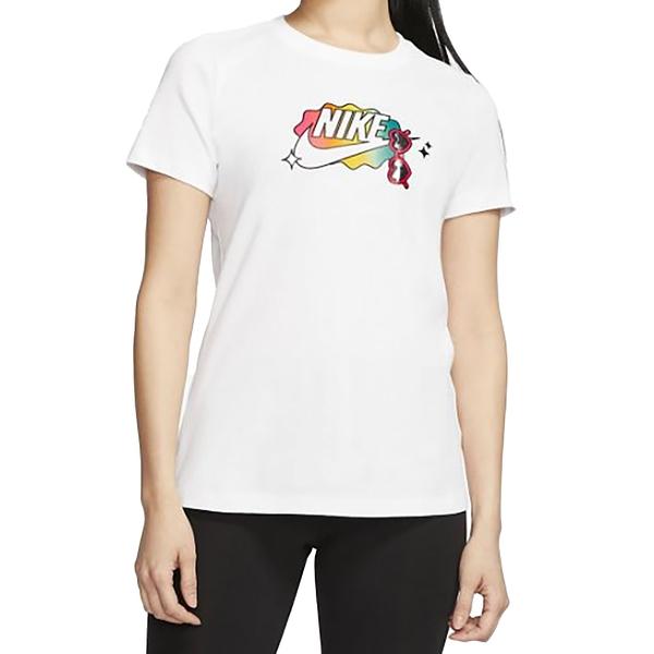 NIKE NSW TEE SUMMER FUN 1 白 女 圓領 印花 短袖 T恤 CU9696100