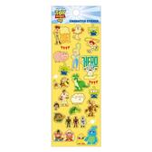 Small Planet 日本製透明造型貼紙 手帳貼 裝飾貼 迪士尼 玩具總動員4 黃_DP23316