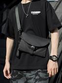 嘻哈迷你款潮牌側背包胸包簡約個性小掛包斜背包斜背包小包男女包