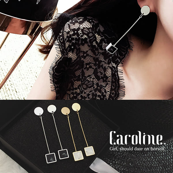 《Caroline》★韓國明星同款 優雅浪漫風格時尚流行耳環68871
