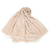 Calvin Klein滿版裸色豹紋披肩薄圍巾(粉膚色)103266