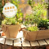 【中秋好康下殺】花盆木質多肉植物花盆實木小花器復古小木盒zakka園藝裝飾