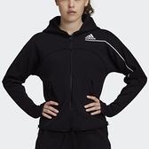 【12周年慶跨店折後$3180】adidas Z.N.E. HOODIE 女裝 外套 連帽 寬版 拉鍊口袋 休閒 黑白 舒適 透氣 GM3275