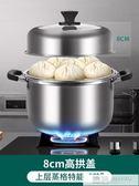 蒸鍋304不銹鋼家用蒸鍋湯鍋小1二2多層家用蒸煮加厚通用22 韓慕精品 YTL