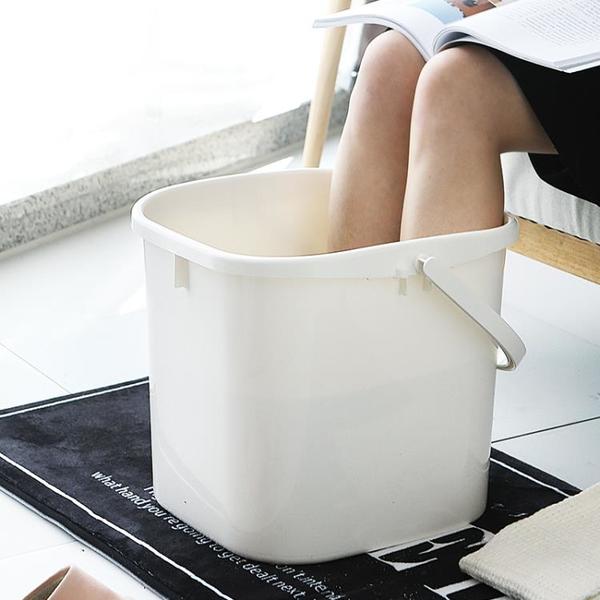 泡腳桶過小腿泡腳盆家用塑料加高足療洗腳足浴桶過膝蓋養生高深桶 「青木鋪子」