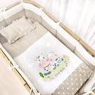 西川 GMP BABY 牛寶貝圓床被組-卡其色【新品】/四件被組.嬰兒床棉被組.純棉四件式寢具組