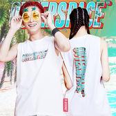 OUTER SPACE 棕櫚海灘LOGO球衣背心(白)