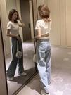 短袖T恤 緊身短款露背上衣短袖女年夏季設計感日系ins潮網紅純棉t恤衫